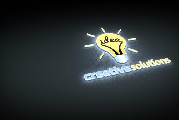 create Awesome Glowing 3D Logo Reveal