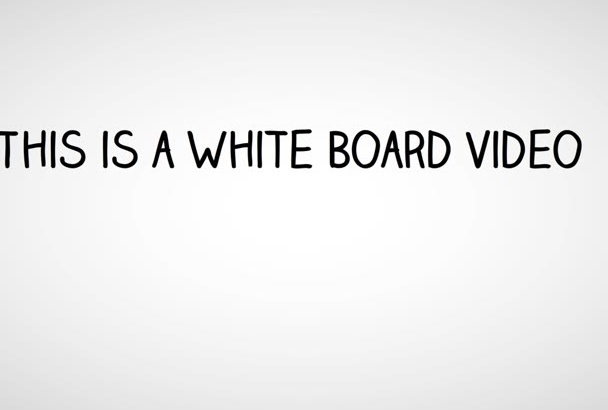 make a creative Whiteboard Video up to 75 seconds long