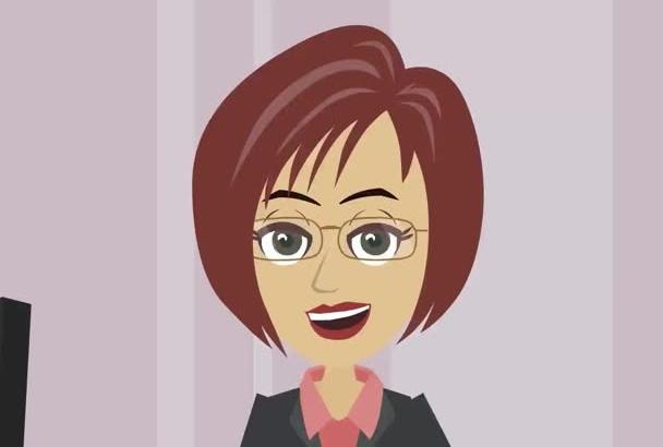 create custom animated cartoon explainer video