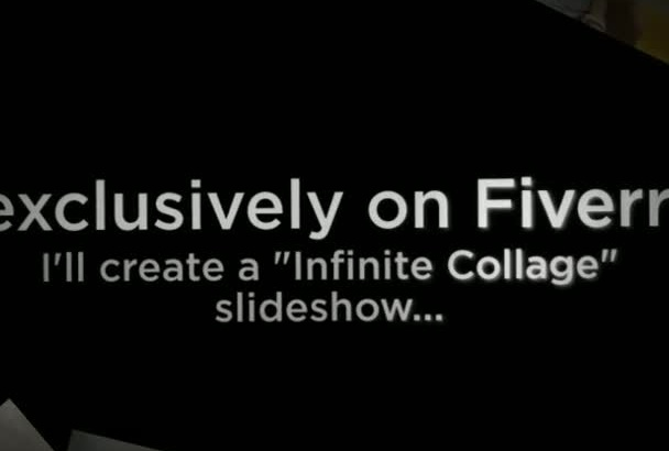 create a Infinite Photo Collage Slideshow Presentation