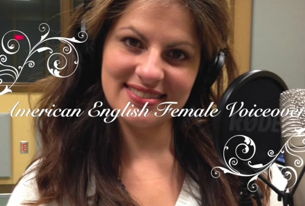 do a professional female voice over