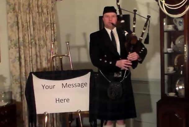 play Happy Birthday on the bagpipes