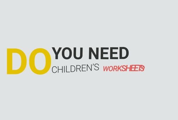 send you Kindergarten Math Worksheets