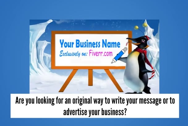 tell my penguin to write your message