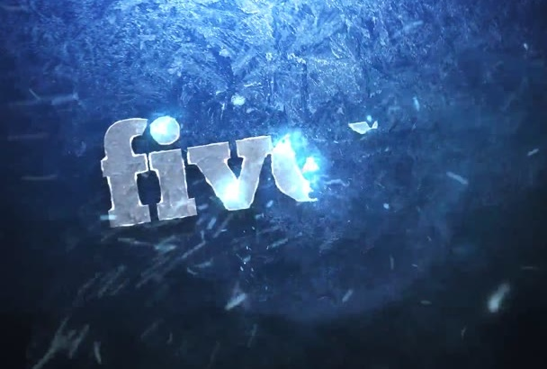 create a Cool Frozen Logo or Text Reveal