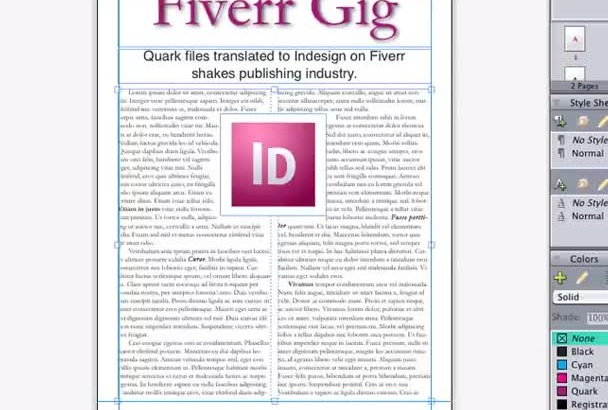convert your Quark XPress file to Adobe InDesign