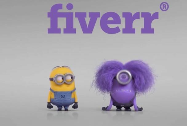 make minion banana purple video logo less 24 hours