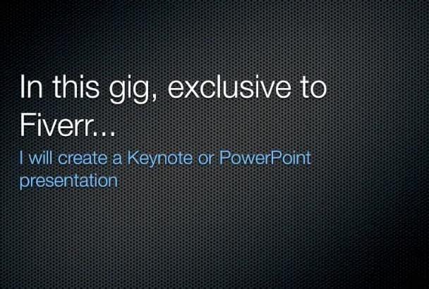 create a basic keynote presentation
