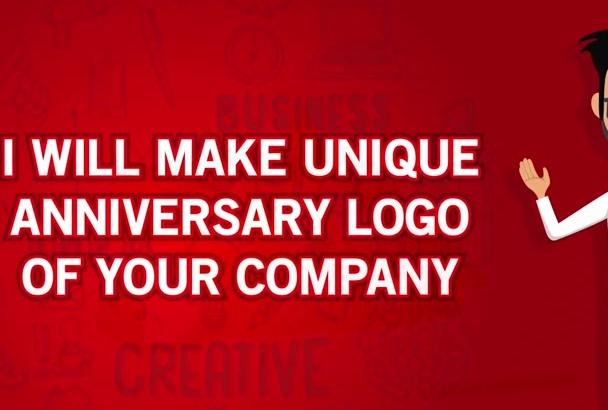 make Unique Anniversary Logo Of Your Company