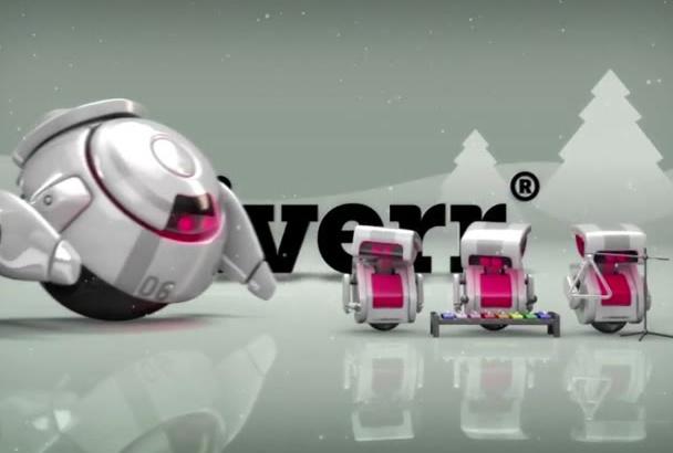 make Christmas Funny Robot Reveal Your Logo