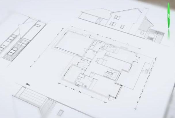model your floor plan into 3D
