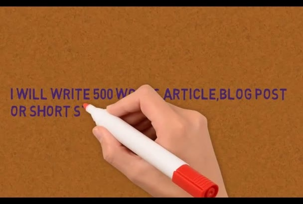 write 500 words article,blog post or short story