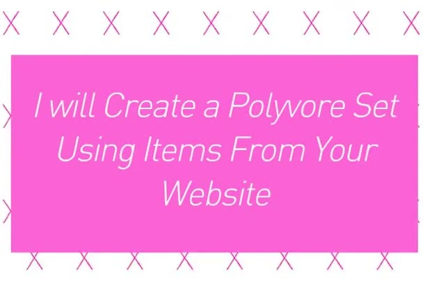 make a polyvore set using items from your website