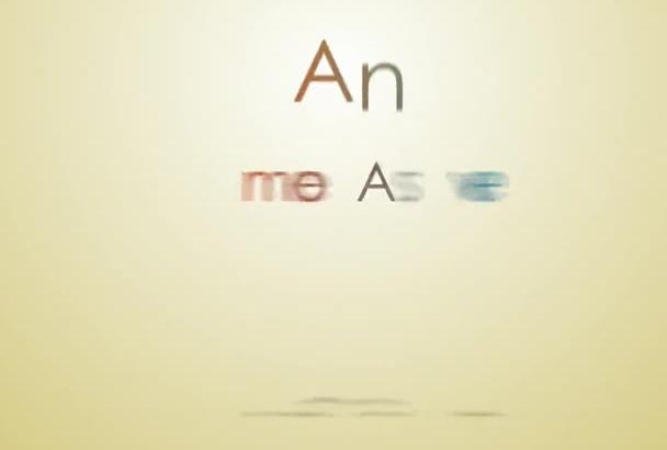 make you this wonderful typography PORTFOLIO Video
