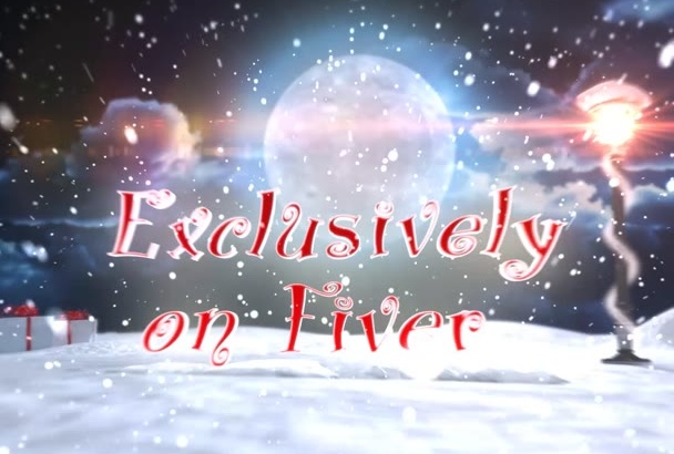 magic Christmas 3D logo or text