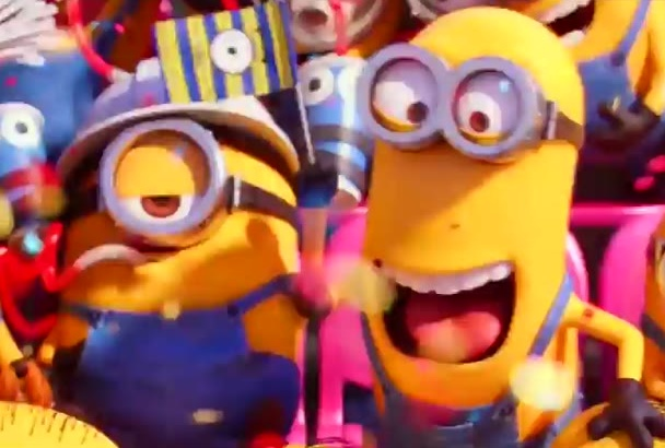 make funny and insane minions video to promote your logo