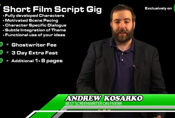write your short screenplay