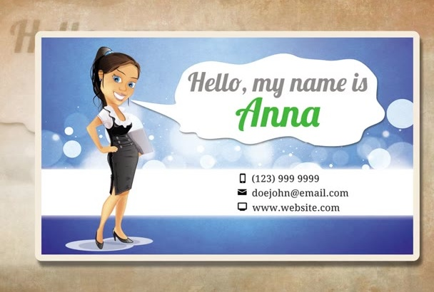 create a Character Business Card