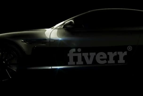 create this CAR  Logo reveal intro video with cool music