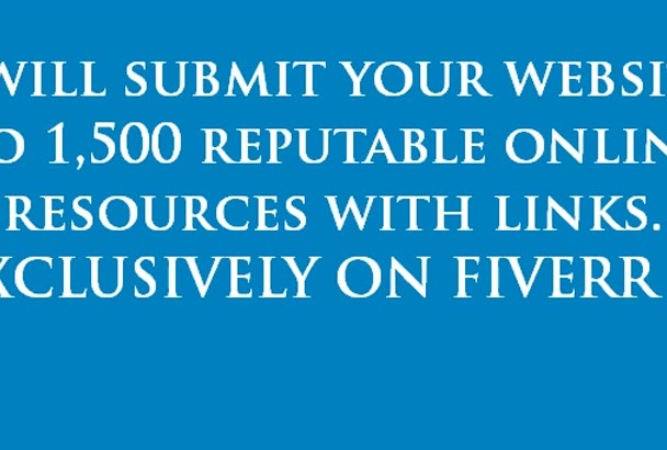 do website submission to 1500 backlink building
