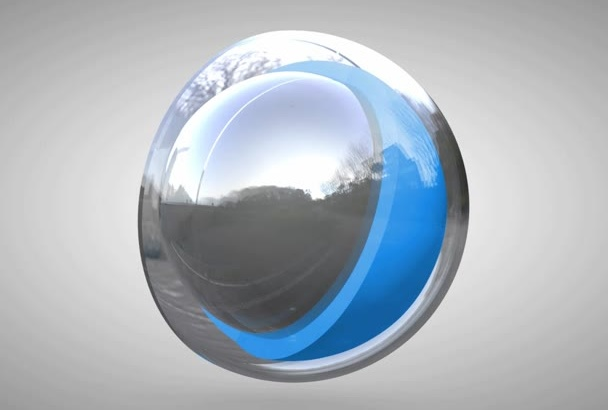create a 3D ball intro