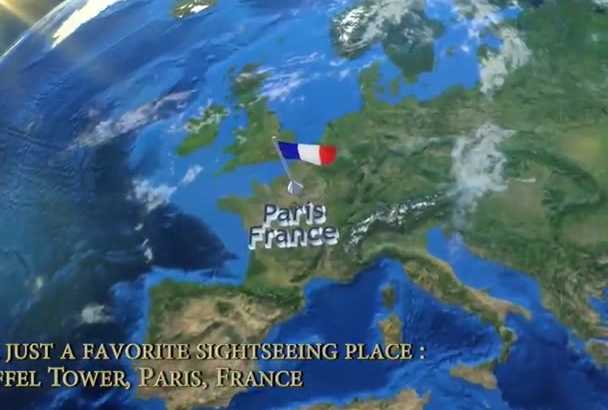 in just1day create Google Maps zooming video of any place in the world