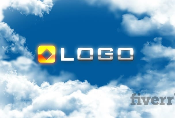 do Sky Couds Fly through Animation Video Logo Reveal Intro