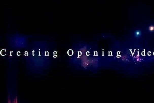 create opening or intro video