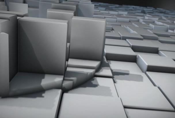 make a 3D Blocks Logo Reveal