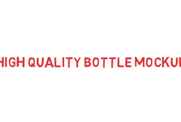 create a high quality vitamin bottle Mock Up