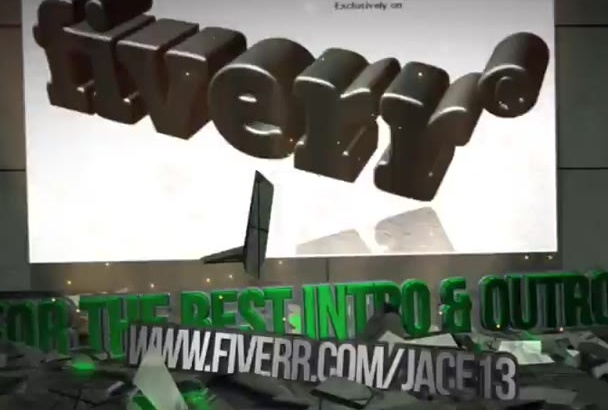 create a EPIC logo or Text intro and Outro