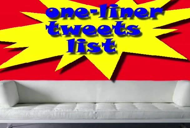 oneliner Tweets List of 2800 Premade Precompiled Twitter Phrases in 24 Hours
