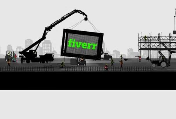 make a Creative Construction Site Logo Intro Video