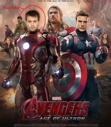 make you part of the Avengers movie cover