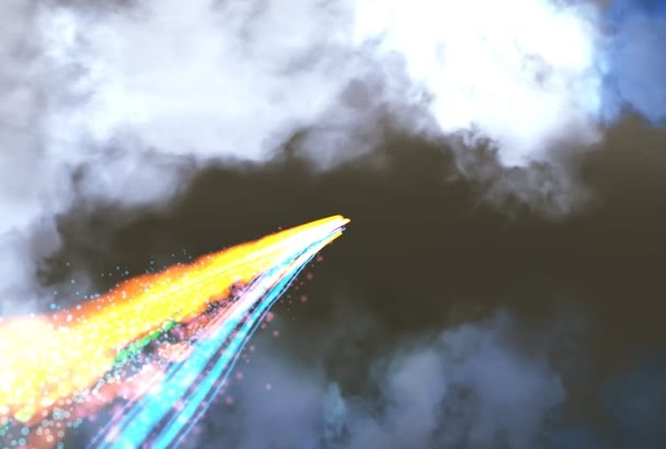 create cinematic light streak intro video