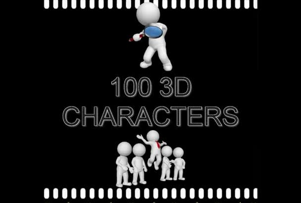 give you 200 3D Characters