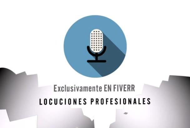 grabar con mi voz un anuncio en Español de España