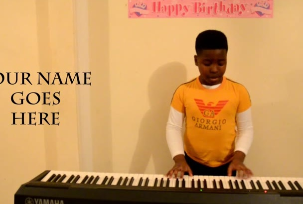 sing or dance a cool happy birthday song on sax or piano