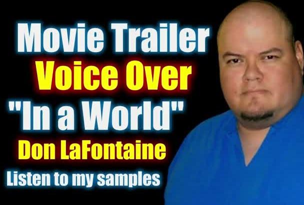 record a Deep Movie Trailer Voiceover