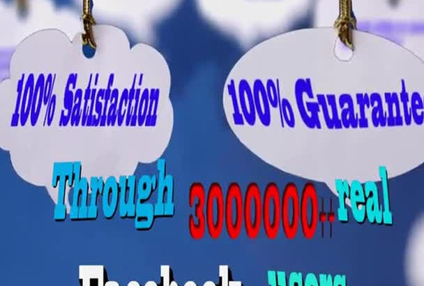 promote your links to 3,000,000 real Facebook users