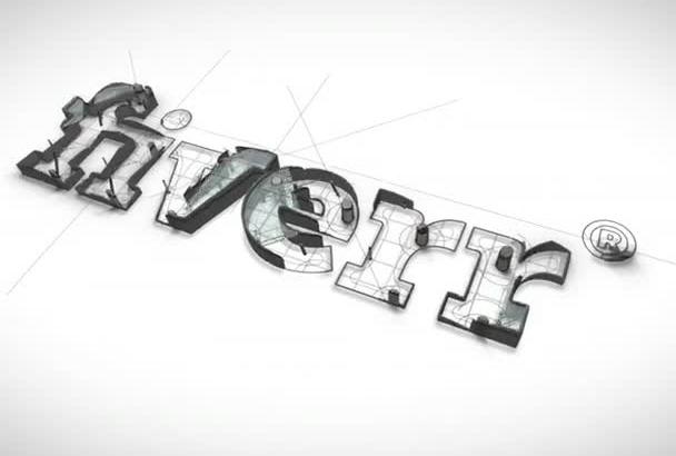 design an elegant 3D logo Intro Animation in HD
