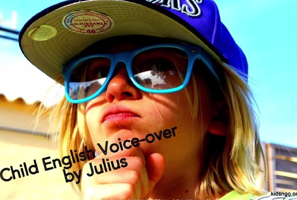 create a young male English voiceover