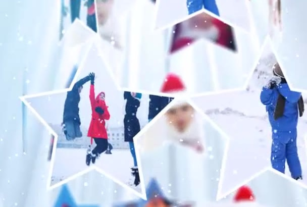create this elegant Christmas tree video with your photos