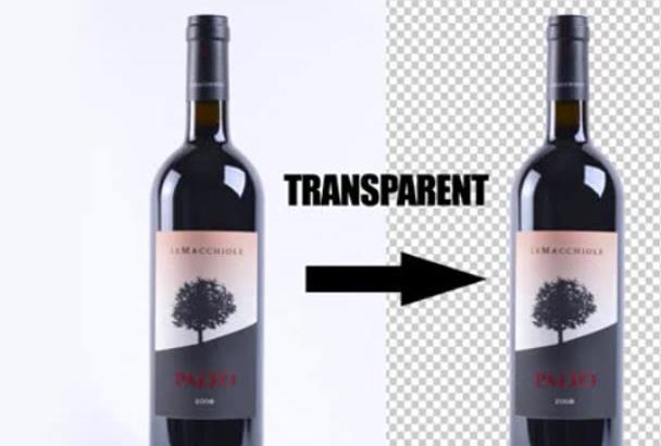 make transparent background of 15 images