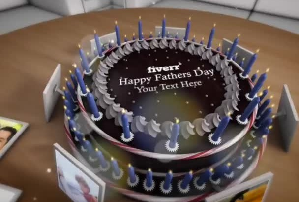 create Amazing 3D video for Fathers Day