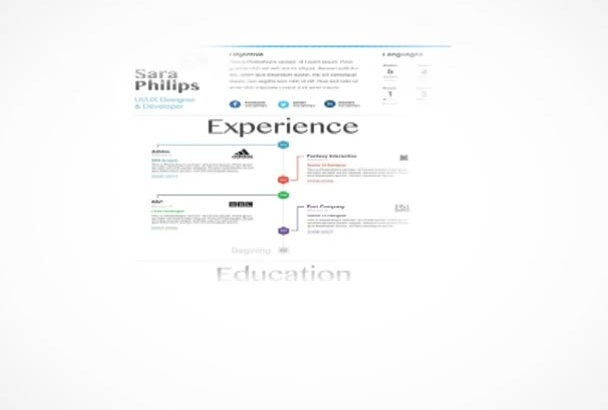 build an interactive resume