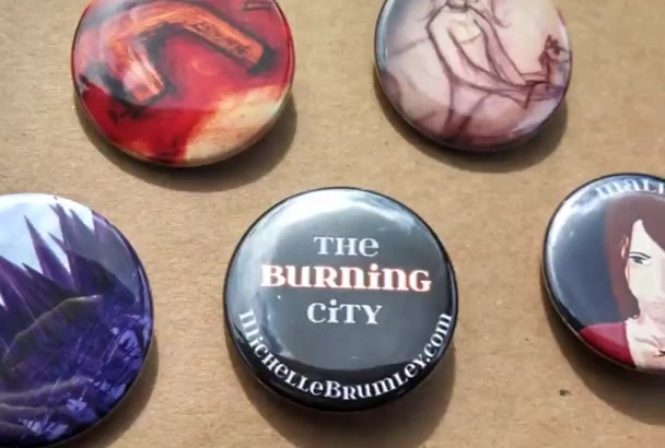 make 10 custom pin back buttons