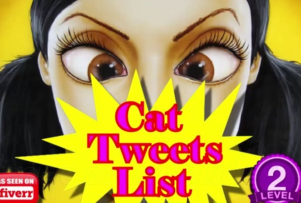 cat Tweets List of 1500 Premade Precompiled Twitter Phrases in 24 Hours