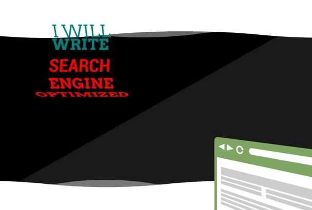 write perfectly researched Search Engine Optimized articles
