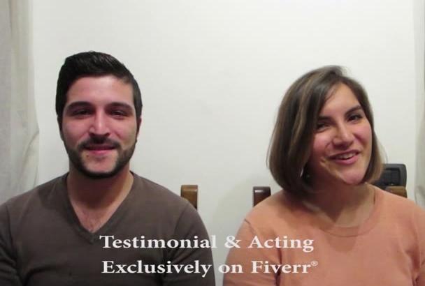 do Individual or Couple Testimonials and Acting English,Italian, Spanish,German